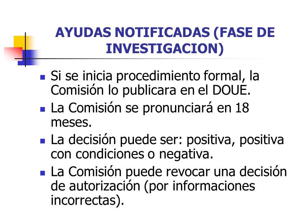 AYUDAS NOTIFICADAS (FASE DE INVESTIGACION)