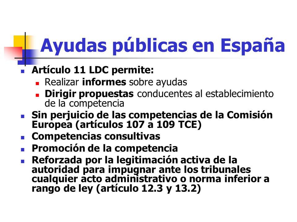 Ayudas públicas en España