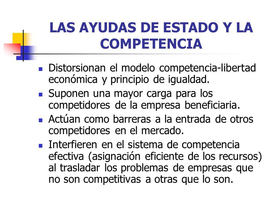 LAS AYUDAS DE ESTADO Y LA COMPETENCIA