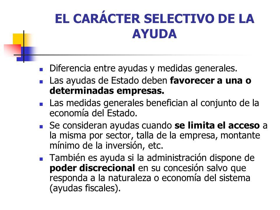 EL CARÁCTER SELECTIVO DE LA AYUDA