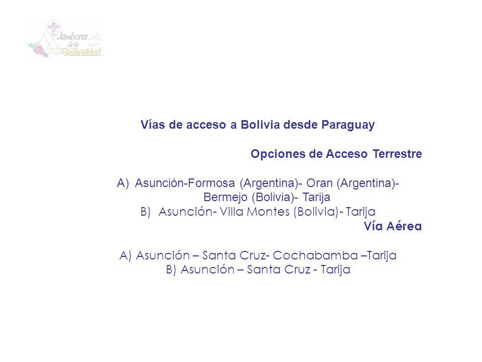 Vías de acceso a Bolivia desde Paraguay