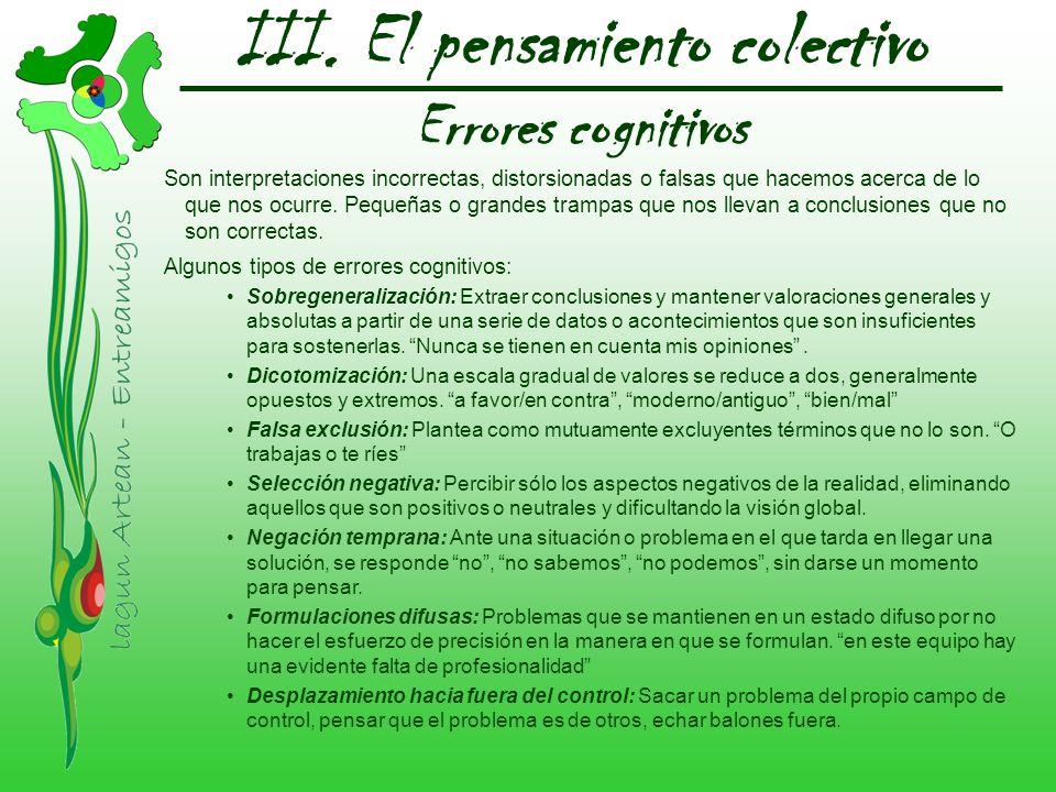 III. El pensamiento colectivo