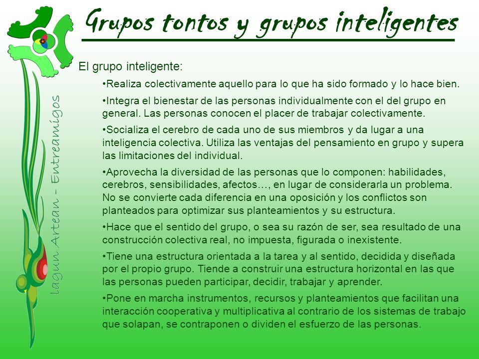 Grupos tontos y grupos inteligentes