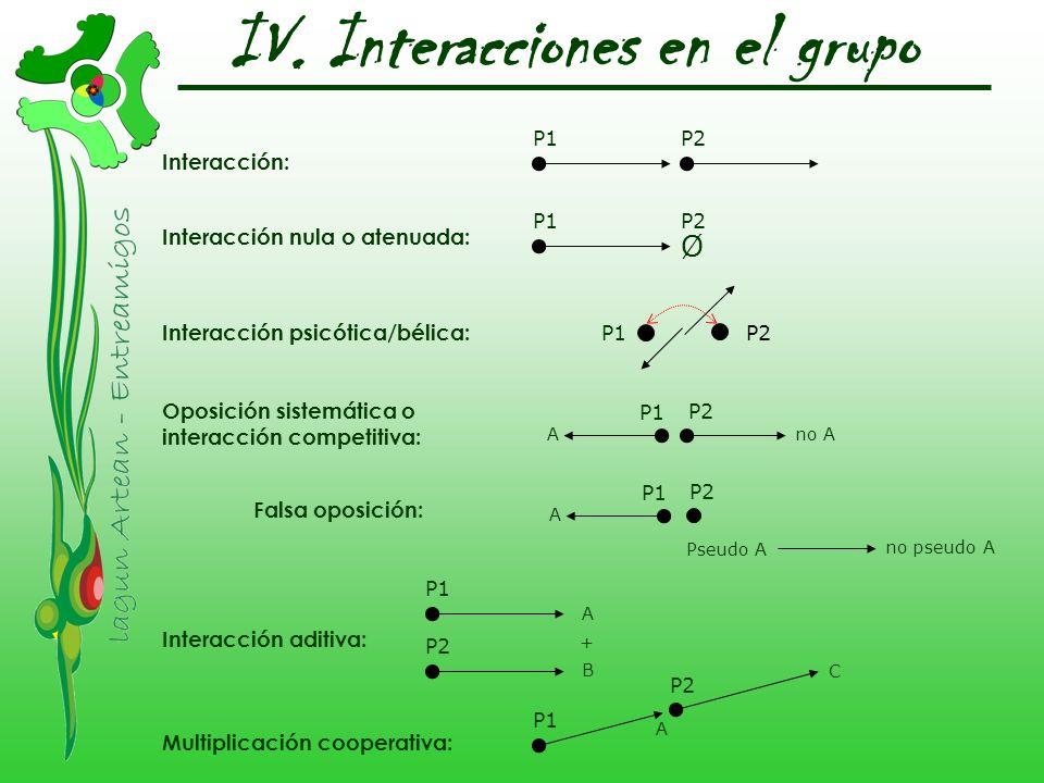 IV. Interacciones en el grupo