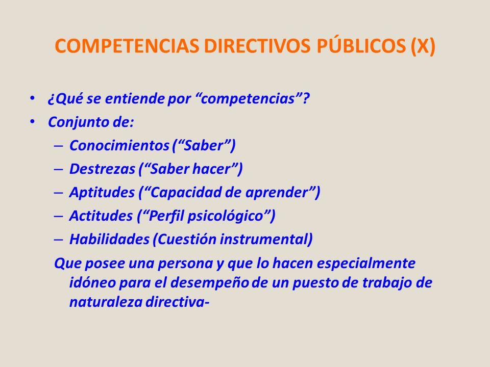 COMPETENCIAS DIRECTIVOS PÚBLICOS (X)