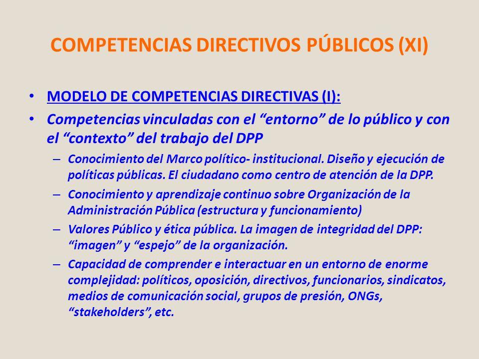 COMPETENCIAS DIRECTIVOS PÚBLICOS (XI)
