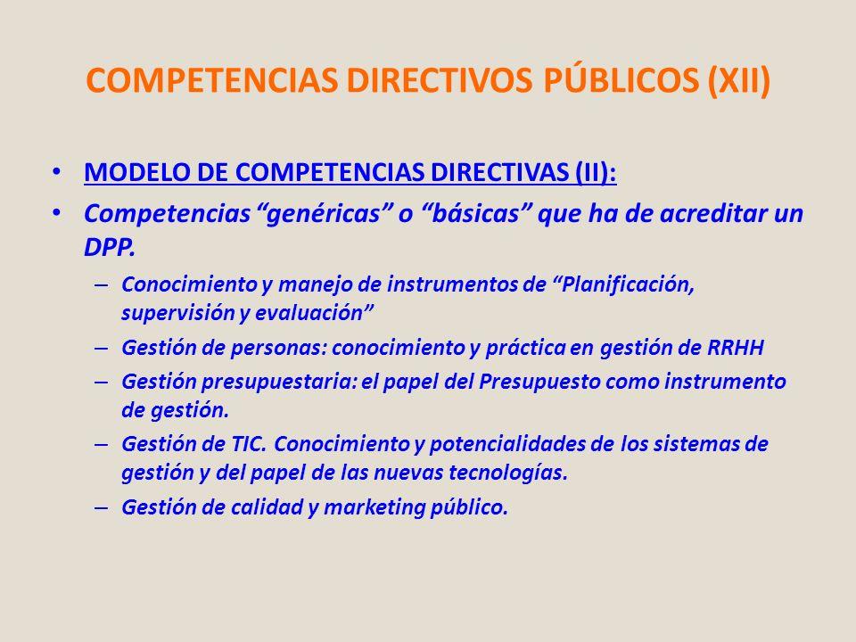 COMPETENCIAS DIRECTIVOS PÚBLICOS (XII)
