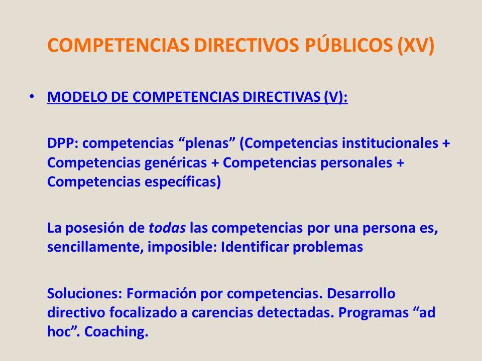COMPETENCIAS DIRECTIVOS PÚBLICOS (XV)