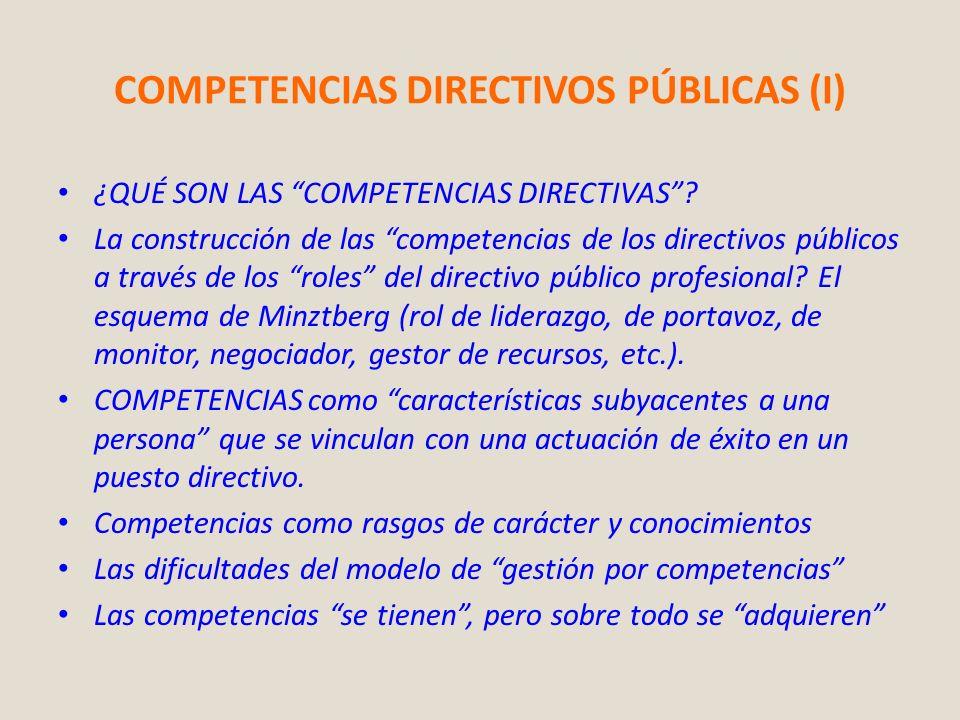 COMPETENCIAS DIRECTIVOS PÚBLICAS (I)