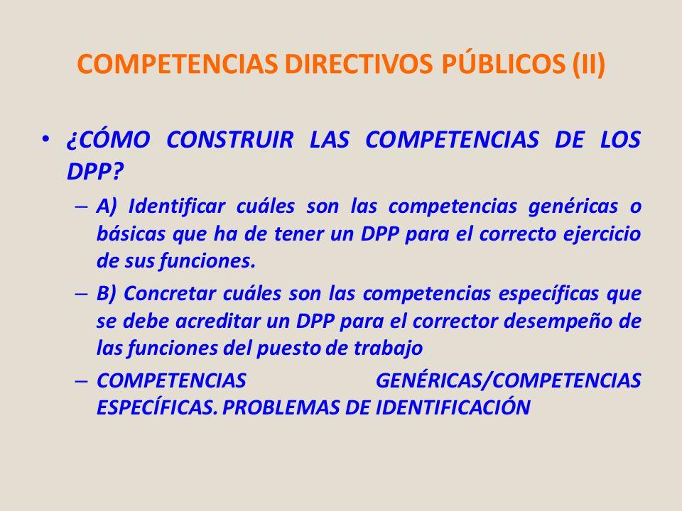 COMPETENCIAS DIRECTIVOS PÚBLICOS (II)