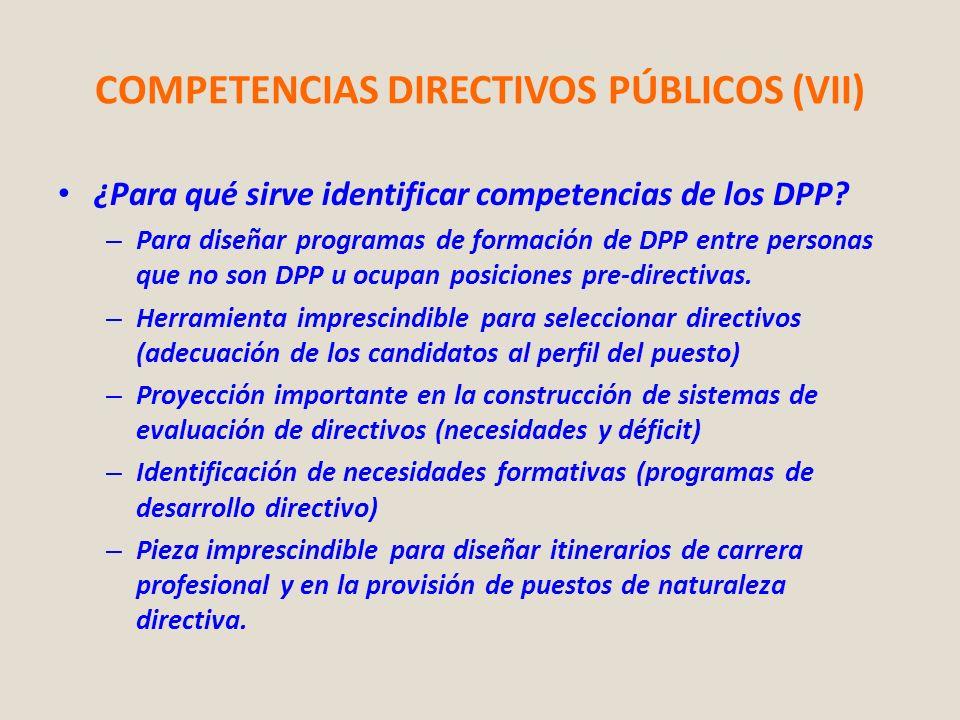 COMPETENCIAS DIRECTIVOS PÚBLICOS (VII)