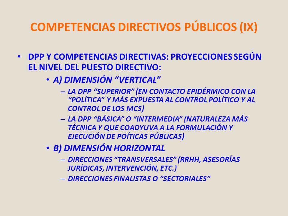COMPETENCIAS DIRECTIVOS PÚBLICOS (IX)