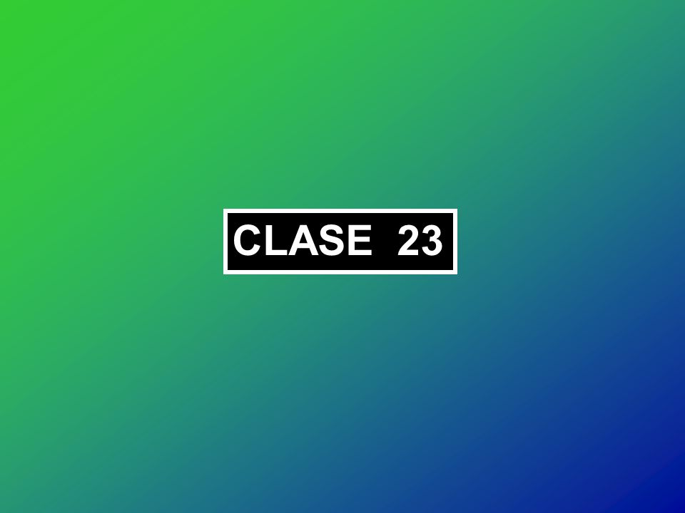 CLASE 23