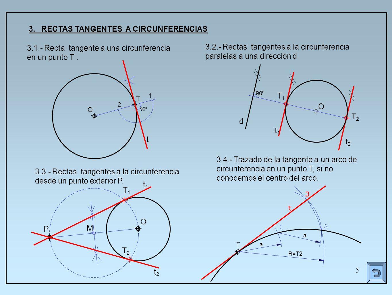 Tangencias construcciones b sicas ppt video online descargar for Exterior a la circunferencia