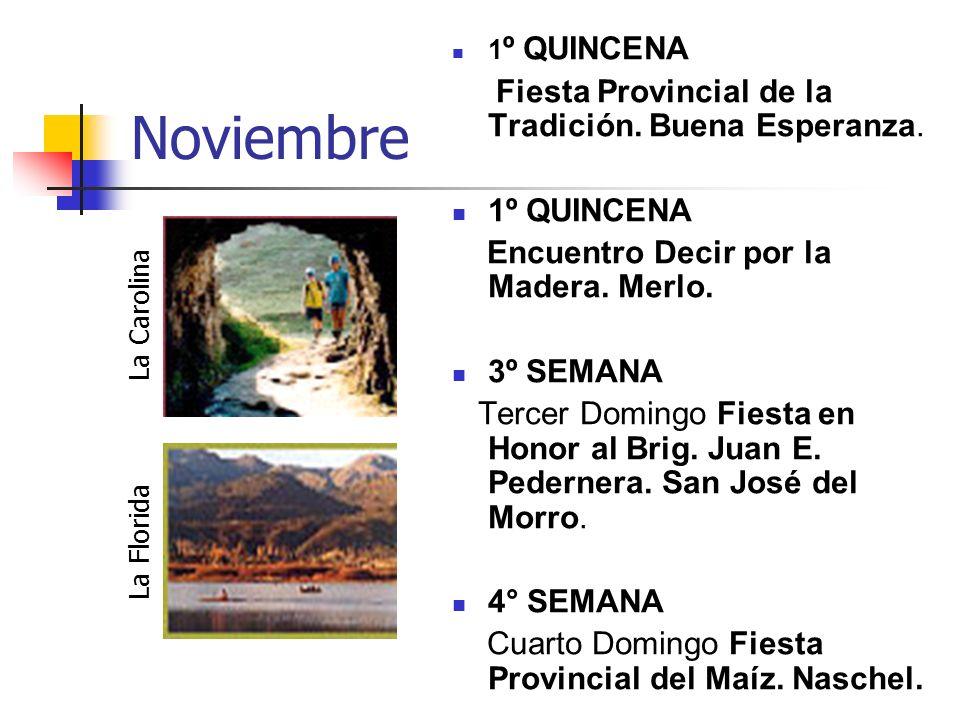 Noviembre Fiesta Provincial de la Tradición. Buena Esperanza.