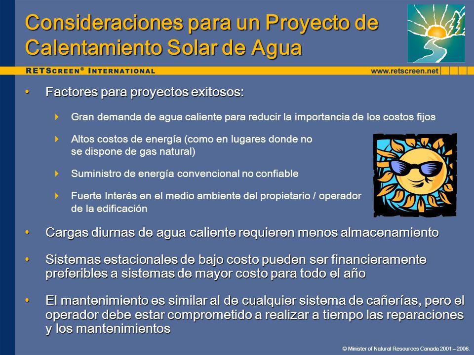 Consideraciones para un Proyecto de Calentamiento Solar de Agua