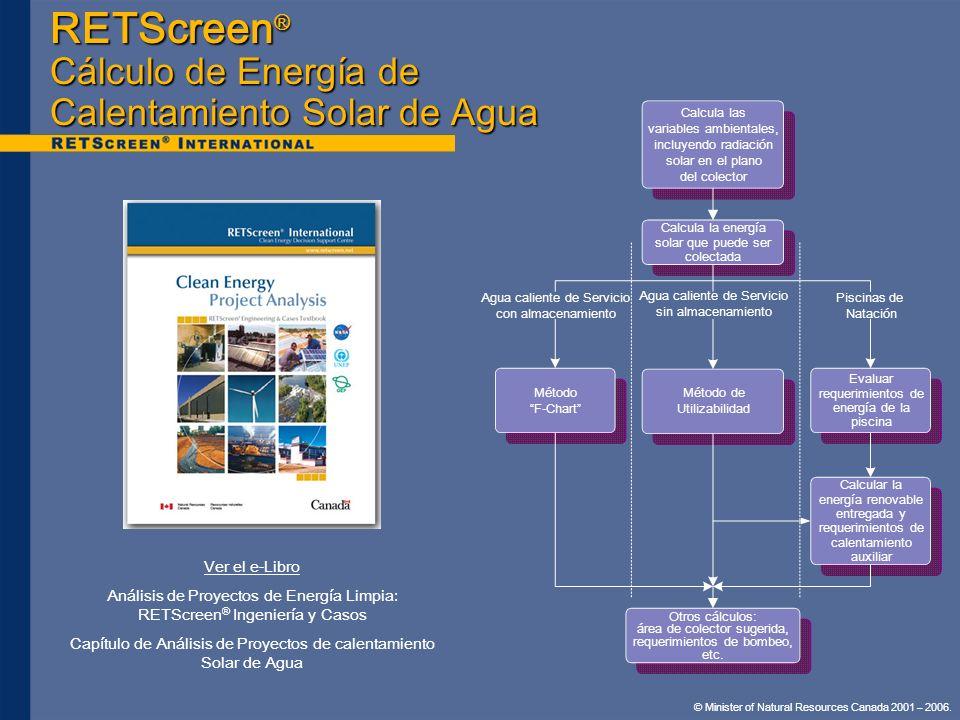 RETScreen® Cálculo de Energía de