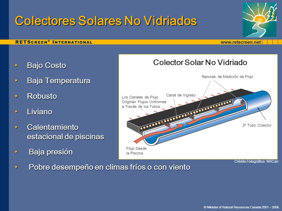 Colectores Solares No Vidriados