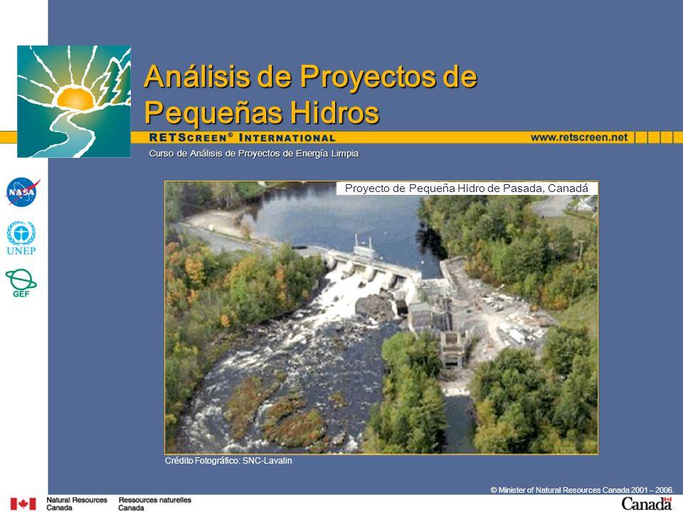 Proyecto de Pequeña Hidro de Pasada, Canadá