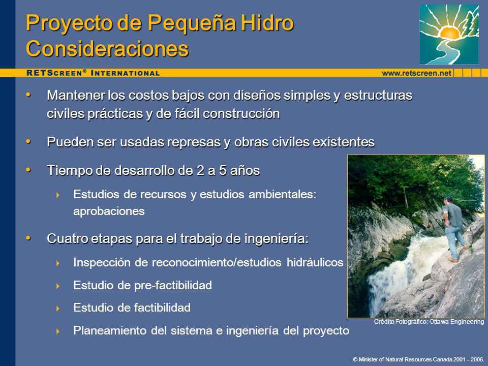 Proyecto de Pequeña Hidro Consideraciones