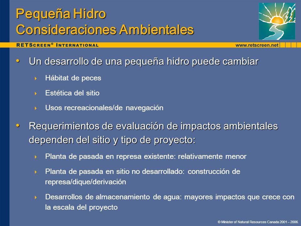 Pequeña Hidro Consideraciones Ambientales