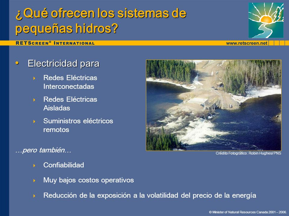 ¿Qué ofrecen los sistemas de pequeñas hidros