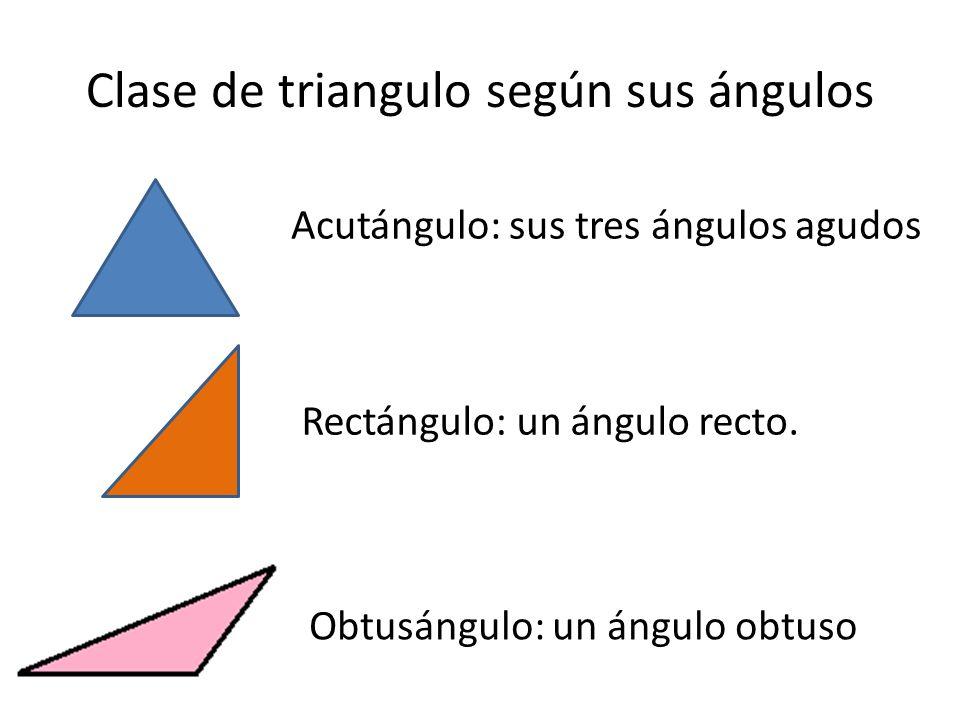 Clase de triangulo según sus ángulos