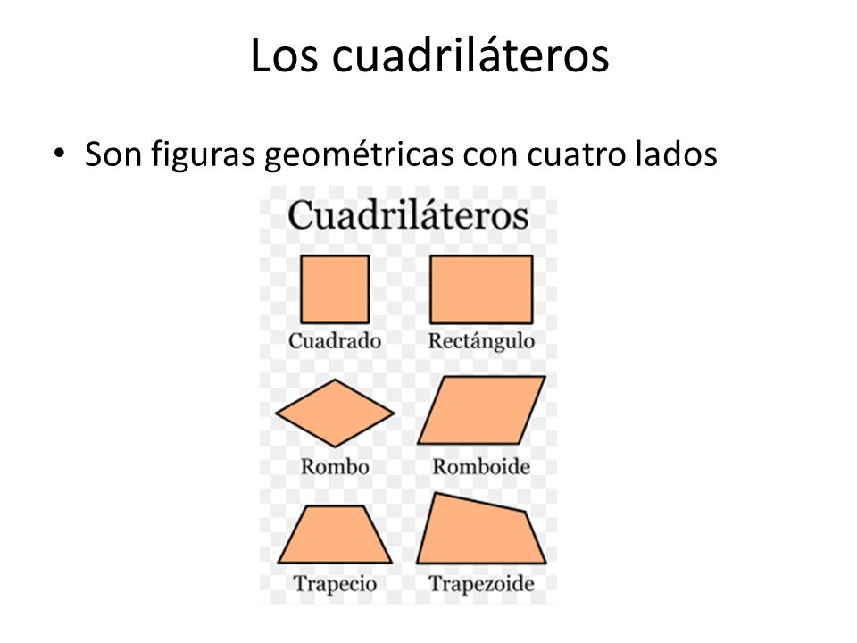 Los cuadriláteros Son figuras geométricas con cuatro lados