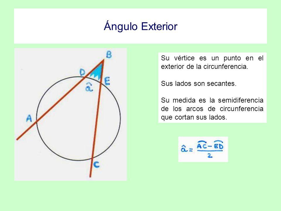 Ngulos en la circunferencia ppt descargar for Exterior a la circunferencia