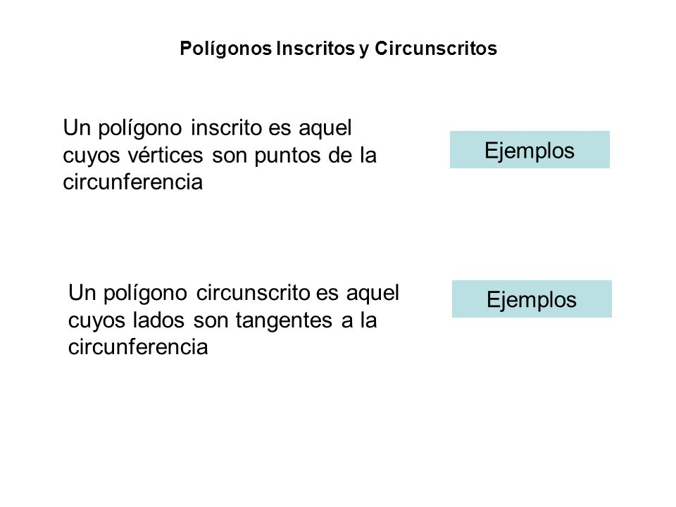 Polígonos Inscritos y Circunscritos