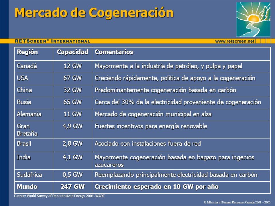 Mercado de Cogeneración