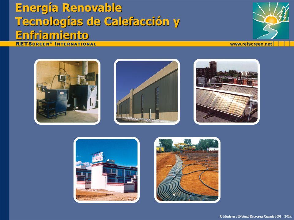 Energía Renovable Tecnologías de Calefacción y Enfriamiento