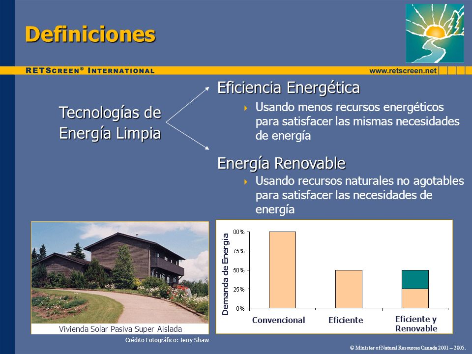 Definiciones Eficiencia Energética Tecnologías de Energía Limpia