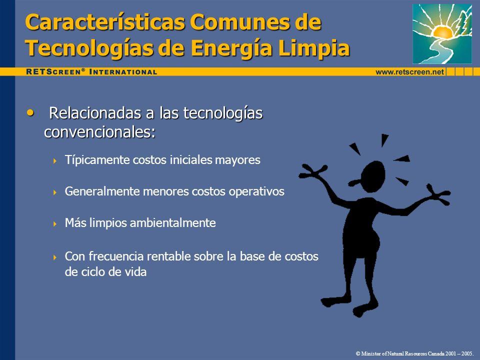 Características Comunes de Tecnologías de Energía Limpia