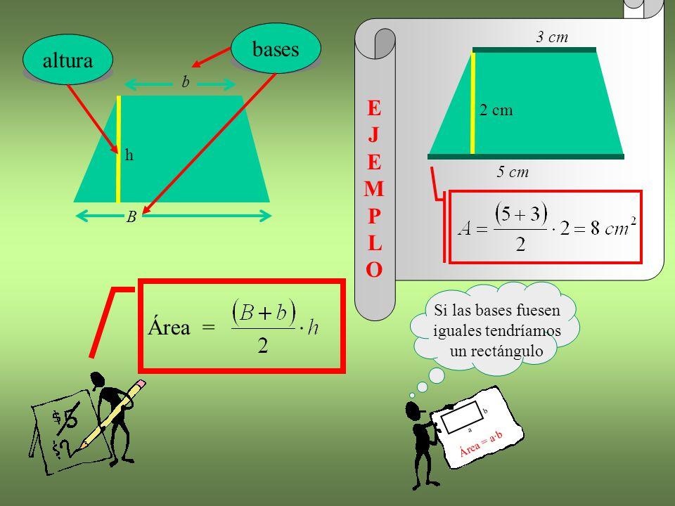 Si las bases fuesen iguales tendríamos un rectángulo
