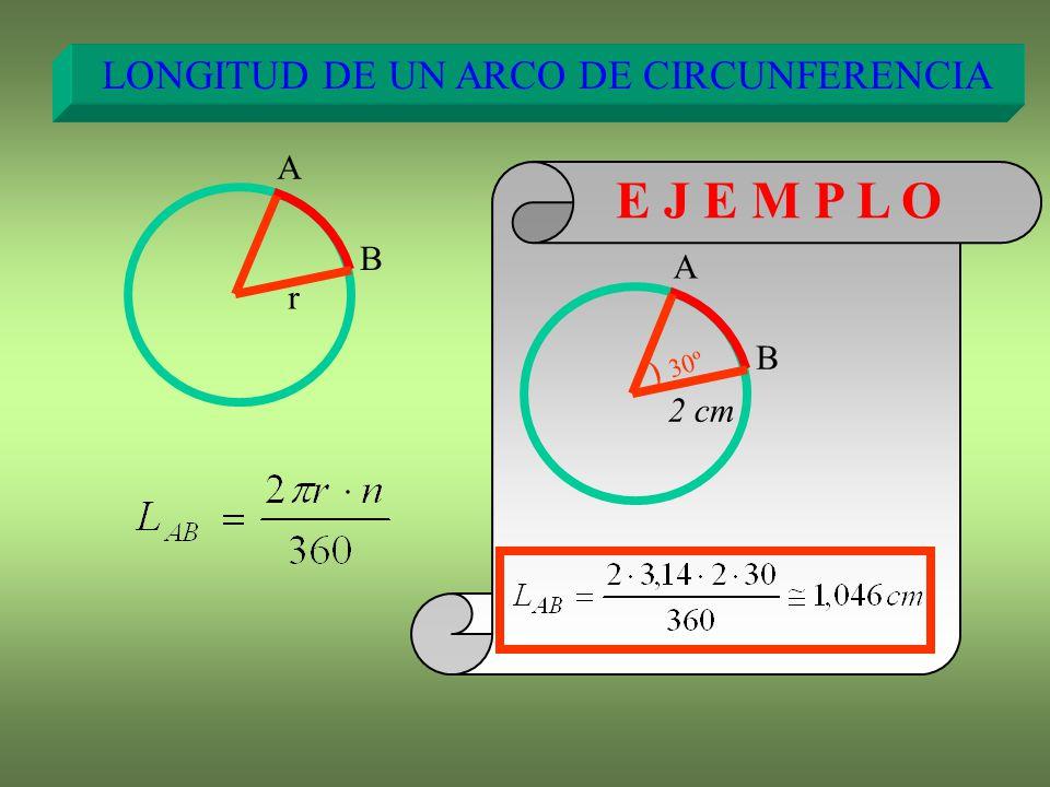 LONGITUD DE UN ARCO DE CIRCUNFERENCIA