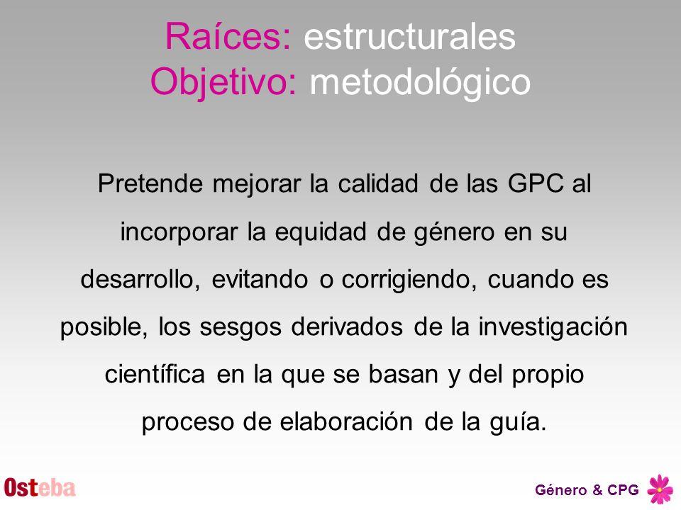 Raíces: estructurales Objetivo: metodológico