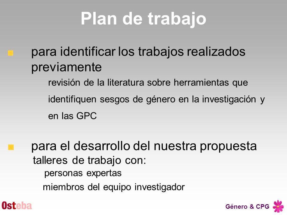 Plan de trabajo para identificar los trabajos realizados previamente