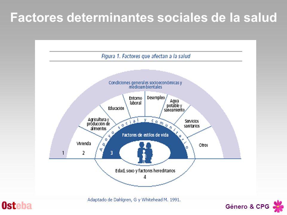 Factores determinantes sociales de la salud