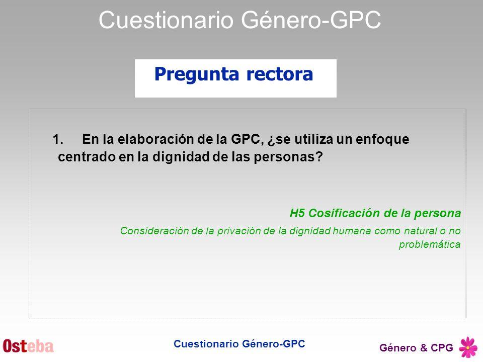Cuestionario Género-GPC