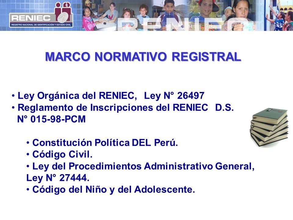 MARCO NORMATIVO REGISTRAL