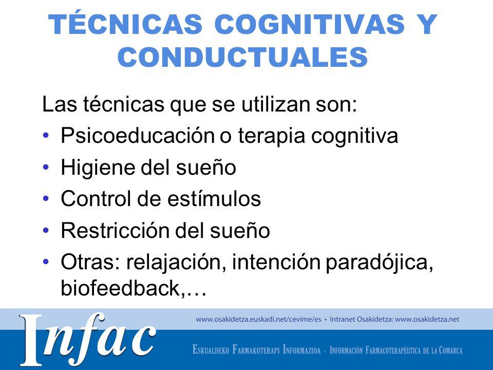 TÉCNICAS COGNITIVAS Y CONDUCTUALES