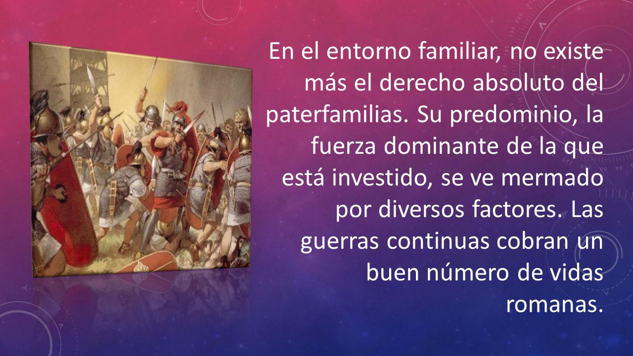 En el entorno familiar, no existe más el derecho absoluto del paterfamilias.
