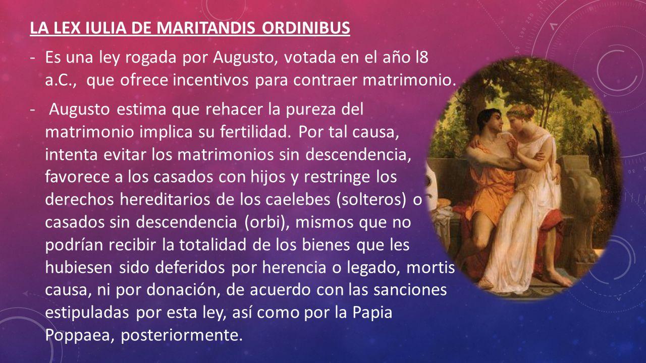 LA LEX IULIA DE MARITANDIS ORDINIBUS