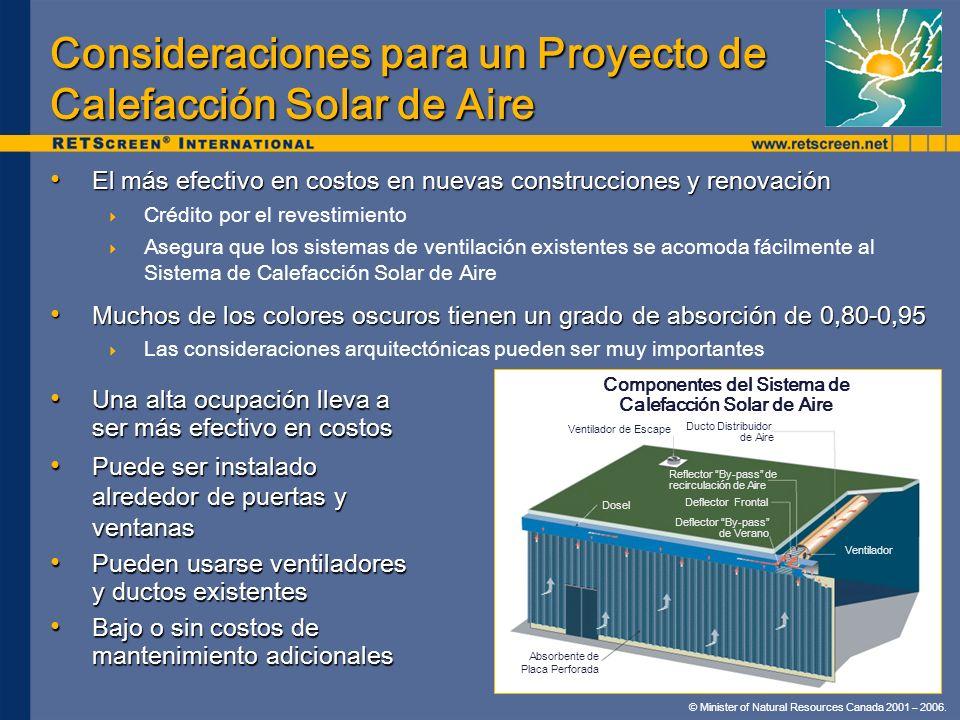 Consideraciones para un Proyecto de Calefacción Solar de Aire