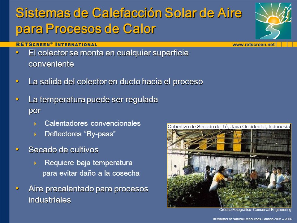 Sistemas de Calefacción Solar de Aire para Procesos de Calor