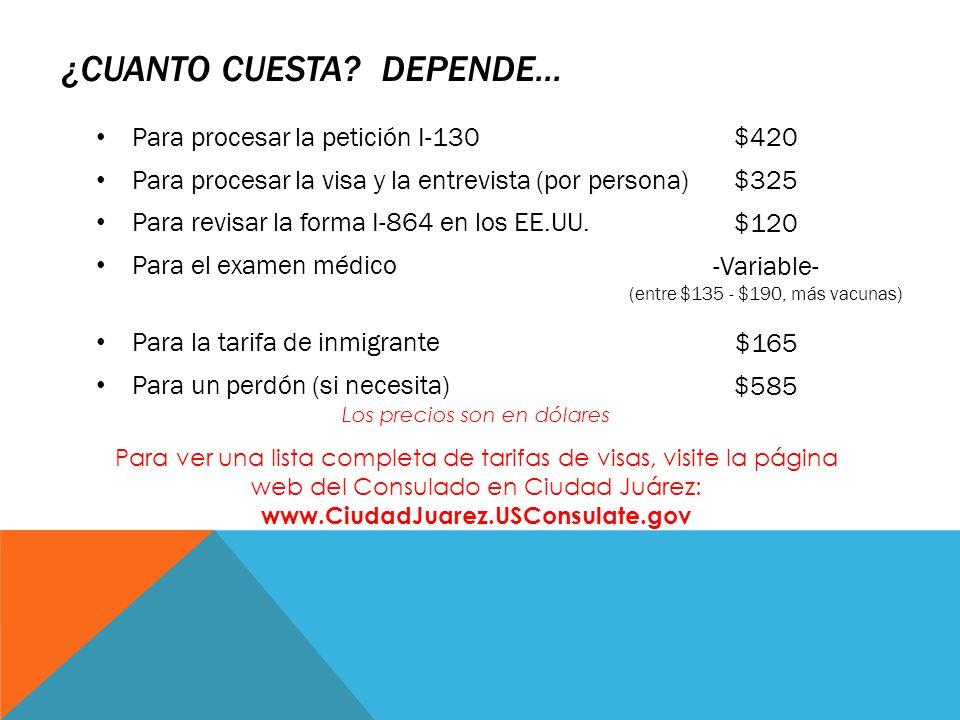 El proceso de visa de inmigrante de ee uu ppt descargar for Cuanto cuesta una recamara completa