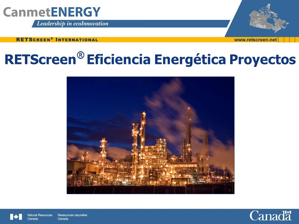 RETScreen® Eficiencia Energética Proyectos