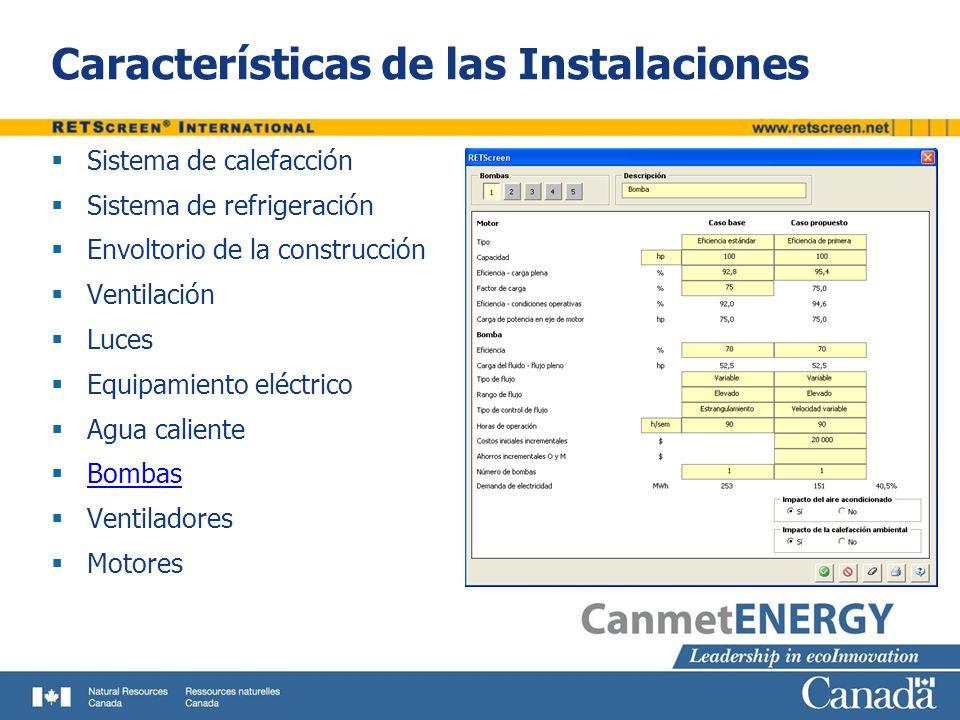 Características de las Instalaciones