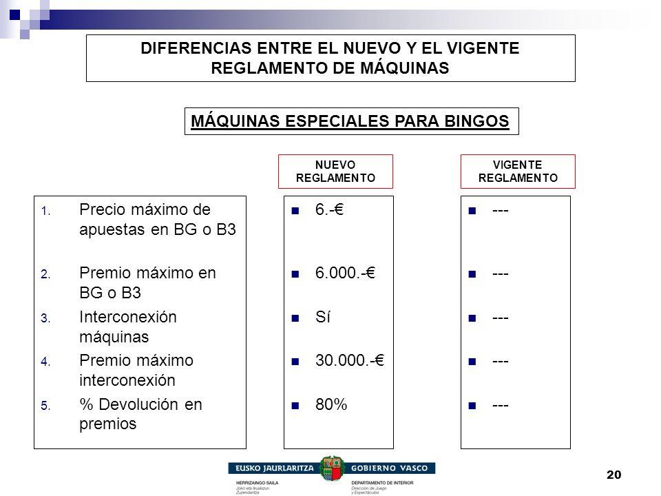 DIFERENCIAS ENTRE EL NUEVO Y EL VIGENTE REGLAMENTO DE MÁQUINAS